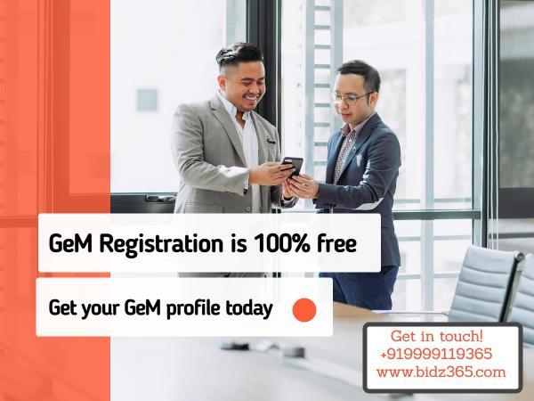 GeM Registration it's 100% FREE